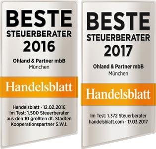 Beste Steuerberater 2016 und 2017